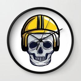 skull helmet Wall Clock