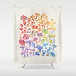 Wild Mushroom Rainbow - Neutral Shower Curtain