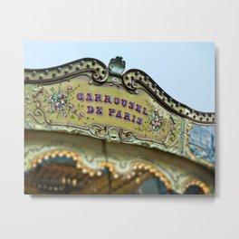 Carrousel de Paris - Paris Carousel Metal Print