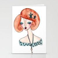 key Stationery Cards featuring Key by Katie Rhianne