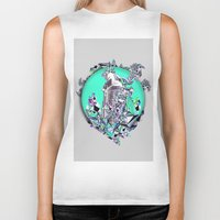 cityscape Biker Tanks featuring Cityscape by infloence