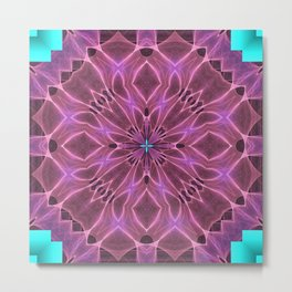 Quilt Tile 5 Pinkish Metal Print