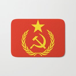 Russian Communist Flag Hammer & Sickle Bath Mat