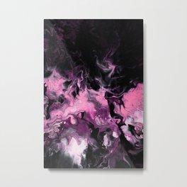 Korean Black Pink Art Metal Print