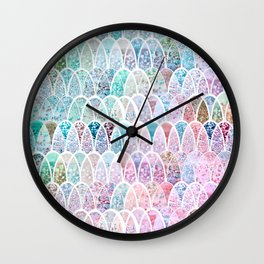 DAZZLING MERMAID SCALES Wall Clock
