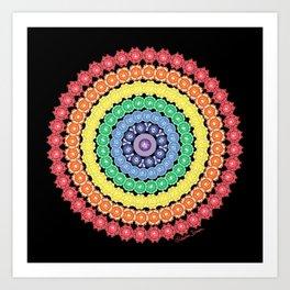 Doggie Namaste Mandala Art Print