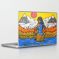 korra Laptop & iPad Skins featuring Korra by TheArtGoon