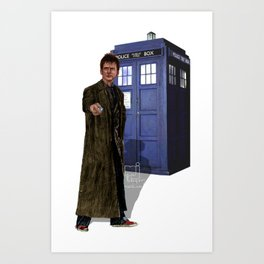 10th Doctor Art Print