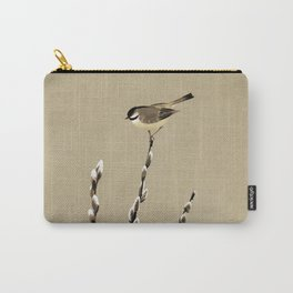 Chickadee And Pussy Willow Carry-All Pouch