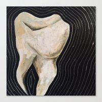 tooth Canvas Prints featuring tooth by paintings by alicia