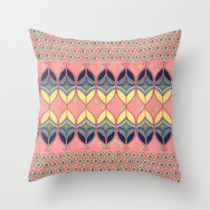 Boho Daisy Throw Pillow