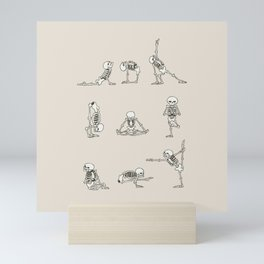 Skeleton Yoga Mini Art Print