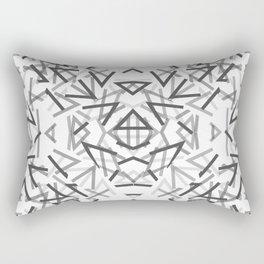 Black Thorns Pattern Rectangular Pillow