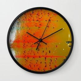 Bio-morphic Acid Wash Wall Clock