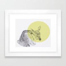 sleep tightly deer Framed Art Print
