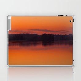 Evening Lakescape Orange Sunset Sky Reflection #decor #society6 #buyart Laptop & iPad Skin
