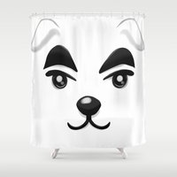 animal crossing Shower Curtains featuring Animal Crossing KK Slider by ZiggyPasta