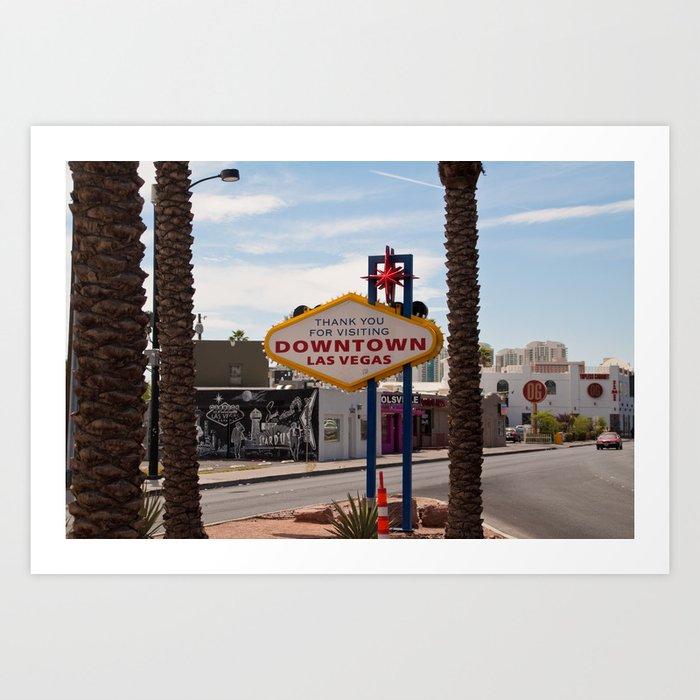 Downtown Las Vegas Art Print