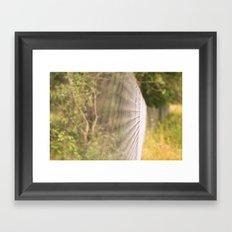 Field fence Framed Art Print