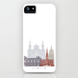 Lublin skyline poster iPhone Case