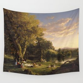 Thomas Cole The Pic Nic(1846) Wall Tapestry