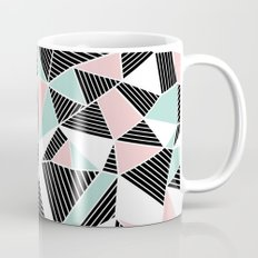 AbLines with Blush Mint Blocks Coffee Mug