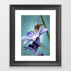 Wasp on flower 11 Framed Art Print