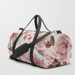 SEPIA ROSES ON GREEN Duffle Bag