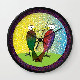 Kiss Me Now Wall Clock