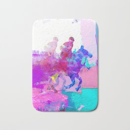 poloplayer abstract redblue Bath Mat
