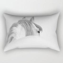 Andalusian Stallion - Digital Painting Rectangular Pillow