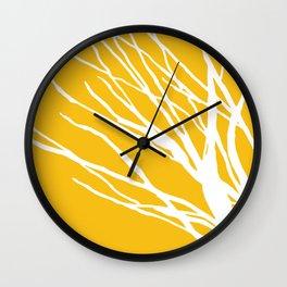 Mustard Blues Wall Clock