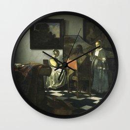 Stolen Art - The Concert by Johannes Vermeer Wall Clock