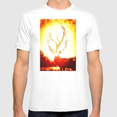 STAG White Mens Fitted Tee MEDIUM