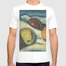 Fruit oil painting Mens Fitted Tee MEDIUM White