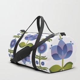 Blue Florals Duffle Bag