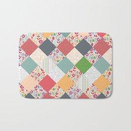 paper cut flower diamonds Bath Mat