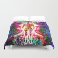 """matrix Duvet Covers featuring """"The matrix """" by shiva camille"""