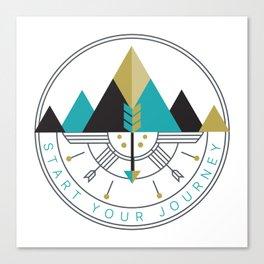 Start Your Journey Badge Canvas Print