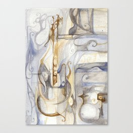 Smooth music Canvas Print