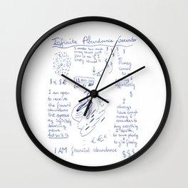 Infinite Abundance Generator Wall Clock
