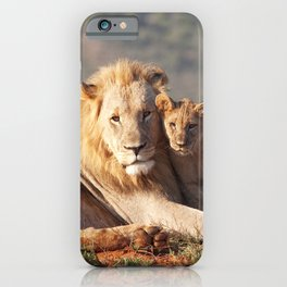 Lion father and son iPhone Case