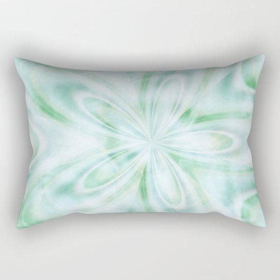 Seaspray Fractal Rectangular Pillow