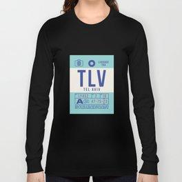 Baggage Tag B - TLV Tel Aviv Ben Gurion Israel Long Sleeve T-shirt