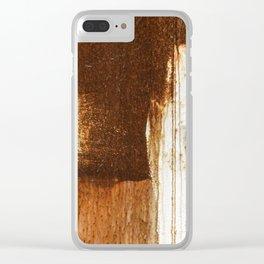Rust 02 Clear iPhone Case