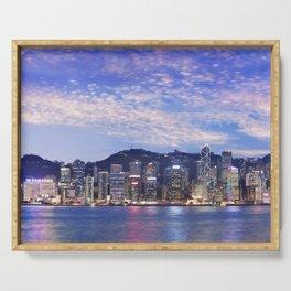 Hong Kong at dusk Serving Tray