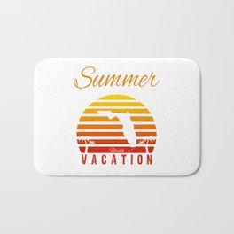 Summer Vacation Florida Miami Beach Holiday Sunset Retro Vintage Bath Mat