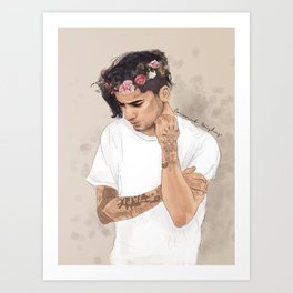 Zayn Floral Crown Art Print