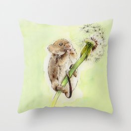 Happy mouse Throw Pillow