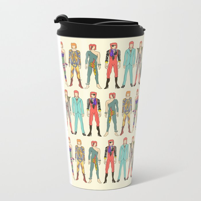 7 Red Heroes Heads Metal Travel Mug